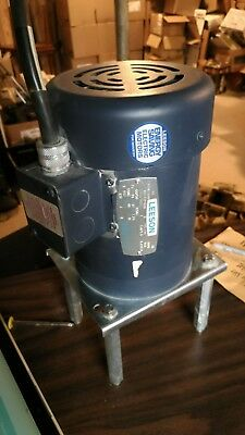 Leeson 1 Hp Electric Motor Model C6t17fc2b 3 Phase 17251425 Rpm 208-230 Vac