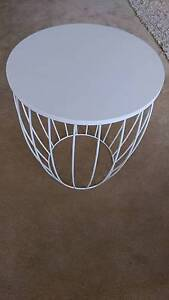 Small white side table Sandy Bay Hobart City Preview