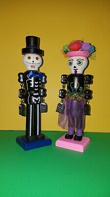 Day Of The Dead Set Of 2 Nutcrackers 10