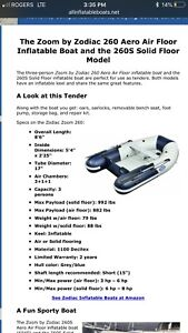 Zodiac zoom 260 inflatable boat!
