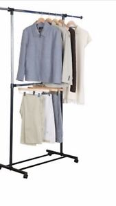 2 Tier Adjustable Clothes/Garment Rack (2 available)