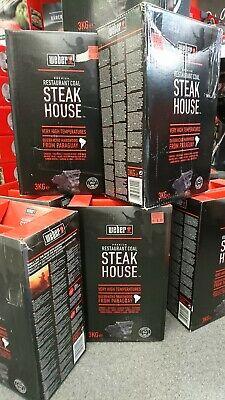 Weber Steak House Grillkohle 3x 3kg
