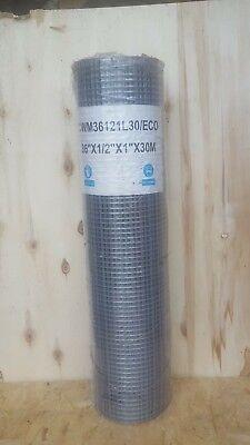 Aviary/Bird Galvanised Wire Mesh Roll 1/2