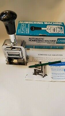 Automatic Numbering Machine C-75 6 Wheels - Made In Japan