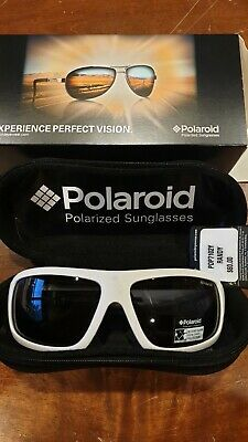 Polaroid PDP7102Y White Square Sport Storm Temples Gray Polarized -