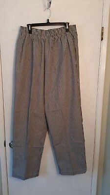 3 Pairs Chef Works Nbcp Checkered Baggy Designer Chef Pants Xl New