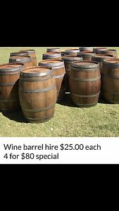 Wine barrel hire wedding party hire $25.00 each Upper Swan Swan Area Preview