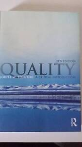 Quality a Critical Introduction Mansfield Brisbane South East Preview