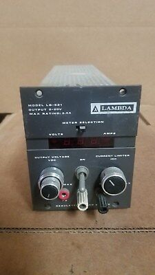Lambda Lq-521 Dc Power Supply Good 0-20v 3.3a