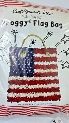 CRAFT YOURSELF SILLY MAKE YOUR OWN PROGGY FLAG BAG TOOL INCLUDED DIFFICULTY AVER