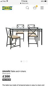 ikea glass dining table