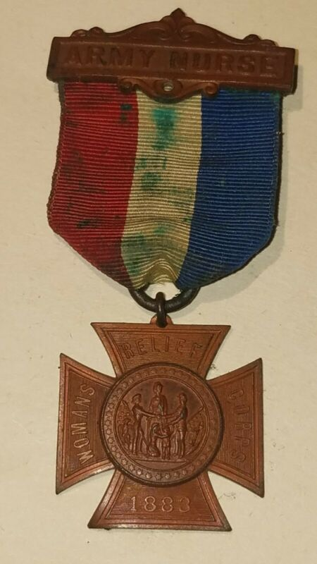 William Farnum Estate medal, badge or pin WOMANS RELIEF CORPS ARMY NURSE 1883