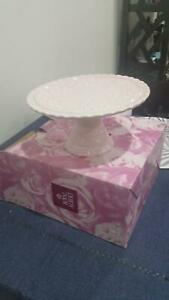 Pink Ceramic Cake Plate - Royal Albert