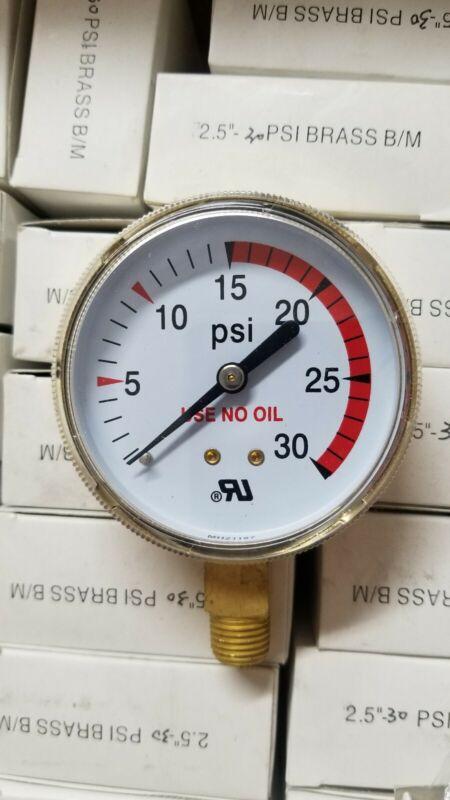 """2-1/2"""" Low Pressure Gauge Acetylene Regulator 0-30 PSI1/4""""-18NPT 2.5""""X30 CC-022"""