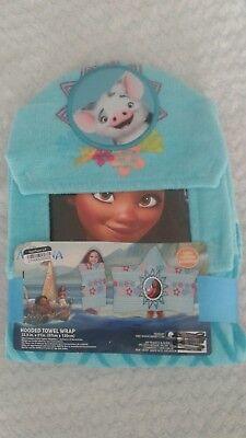 (Disney Princess Moana - Hooded Towel Wrap - Beach Bath - 22.5