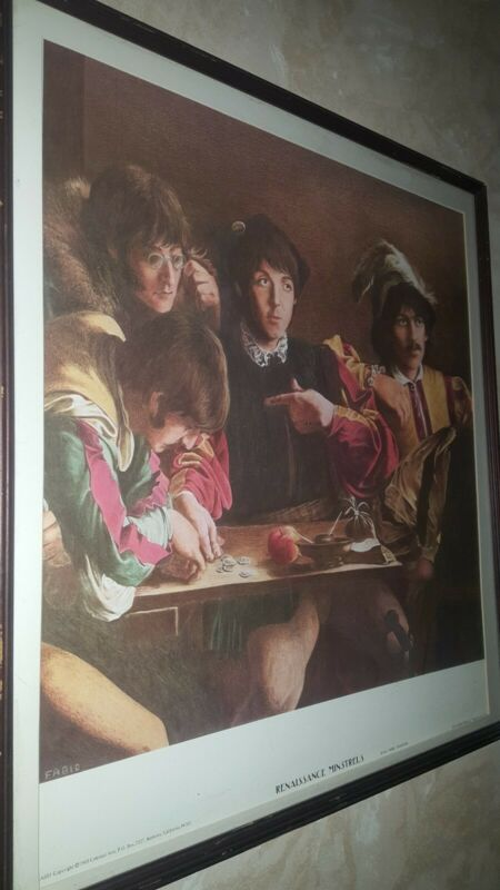 The Beatles vintage poster Renaissance Minstrels 1969 by:Fabio Traverso- Framed