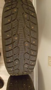 4 Winter tires studded. 2004 Toyota Echo