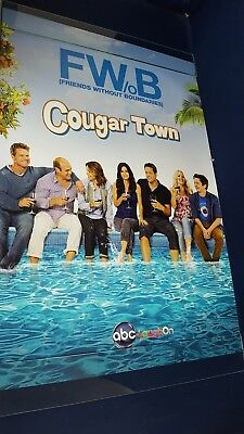 Cougar Town Friends Without Boundary Original ABC TV Promotional Poster 27X40 VG