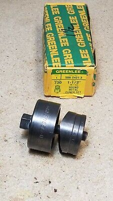 Greenlee No. 730 - 1 12 Round Radio Chassis Punch Set