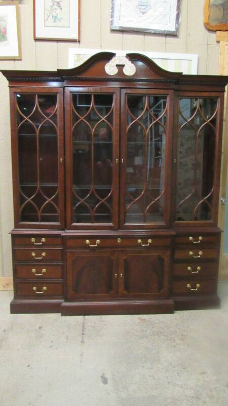 Hickory Chair China Cabinet Breakfront Chippendale Quality