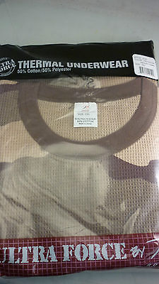 Desert Camo Thermal - ROTHCO THERMAL UNDERWEAR SHIRT 5XL DESERT CAMO BROWN  NEW UNTRA FORCE