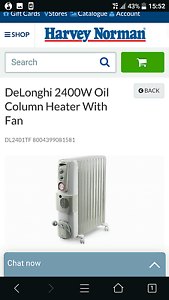 Almost new DeLonghi 2400w heater x2 Adelaide CBD Adelaide City Preview