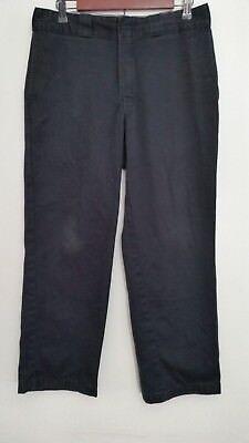 Dickies Mens Pants 32x29 874 Original Fit Black Cotton Blend Flat Front Work
