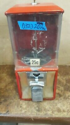"1"" vintage half 1/2 cab Northwestern Vending Machine 25 cent candy gumball H1"