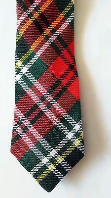 1940s Mens Ties | Wide Ties & Painted Ties ESTATE FRESH WPL 6152 Vintage 1940's Men's Neck Tie Acrylic Plaid Preppy RETRO $12.50 AT vintagedancer.com