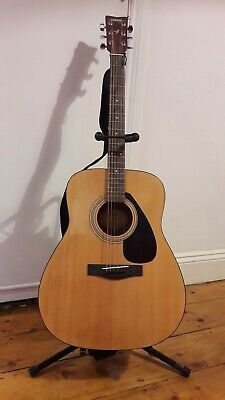 Yamaha F310 Full Size Acoustic Guitar Natural with Stand Case Tuner Accessories