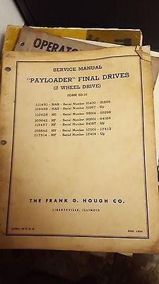 Payloader Final Drives Service Manual