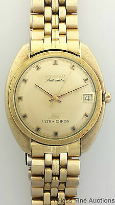 Heavy Large Longines Ultra Chron Automatic Vintage 1970s Mens Watch to Restore