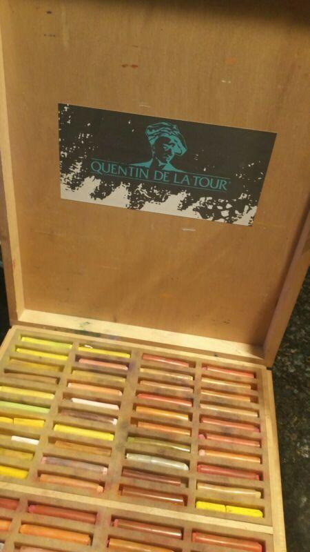 Vintage GIRAULT L&B Quentin de la Tour Soft Pastels Set of 320 RARE W/BOX!