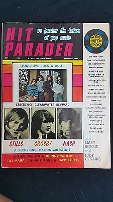 September 1969 Hit Parader Crosby Stills Nash Judy Collins Creedence Clearwater