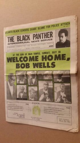 Black Panther Newspaper July 27,, 1974 Bob Wells cover