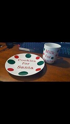 cookies for santa plate and milk - Cookies And Milk