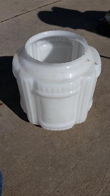 Milk glass deco shade  (LT 448)