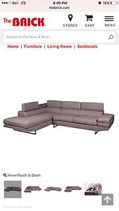 Grey Sectional Couch SOLD PPU