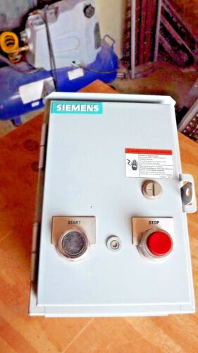 Siemens  Size 1 120v HD magnetic starter, Nema 3R raintight STOP START buttons