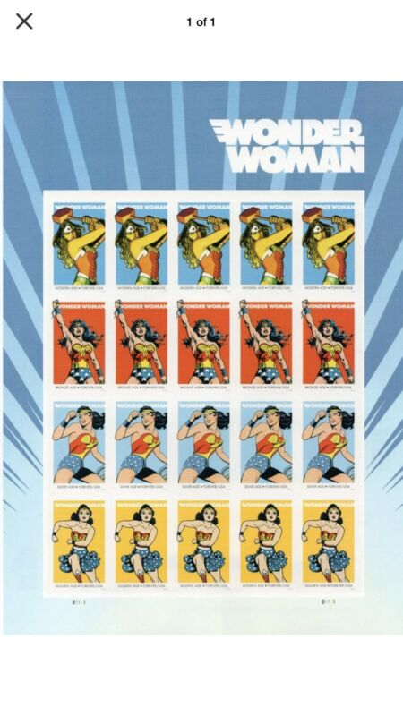 Scott#5149 Wonder Woman Full Sheet Of 20 Mnh Stamps