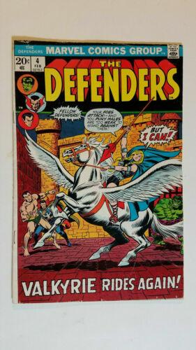 Defenders #4, VG/FN 5.0, 1st appearance Valkyrie; Dr. Strange, Namor, Hulk