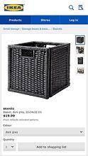 Black IKEA woven storage baskets Waterloo Inner Sydney Preview
