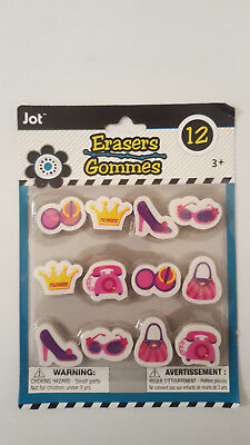 Fun Shaped Erasers, 12-ct. Packs
