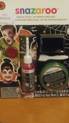 BUY 1 GET 1 FREE Snazaroo Halloween Effects Kit  Makeup FX Accessory First Aid (Snazaroo Halloween Makeup)