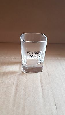Walker's DeLuxe Bourbon Square Shot Glass Whiskey Whisky Scotch