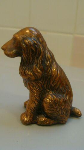 Vintage Copper/Metal Miniature Cavalier King Spaniel Dog Figurine