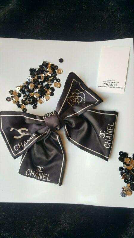 Chanel VIP New Design Promo Black Bow Barrette