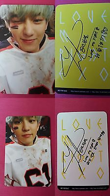 2 pcs EXO CHANYEOL Official PHOTOCARD Yellow + White  KOREA PRESS LOVE ME RIGHT