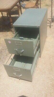 Vintage Steelcase 2 Drawer Filing Cabinet