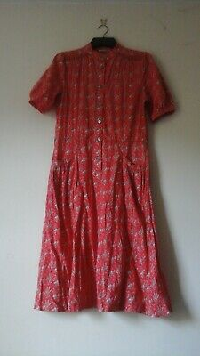 Laura ashley vintage tea dress Made in Wales Uk14